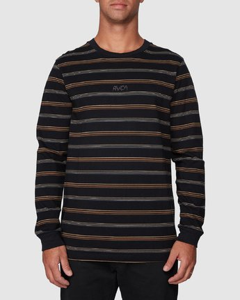 1 Merc Stripe Long Sleeve Tee  R107095 RVCA
