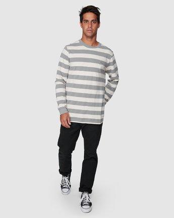5 Shallow End Stripe Long Sleeve Tee  R107096 RVCA