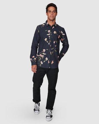 5 Lazarus Long Sleeve Shirt Black R107182 RVCA