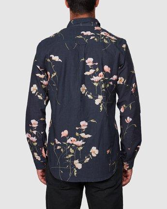3 Lazarus Long Sleeve Shirt Black R107182 RVCA
