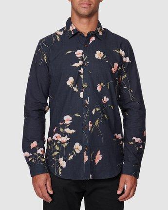1 Lazarus Long Sleeve Shirt Black R107182 RVCA
