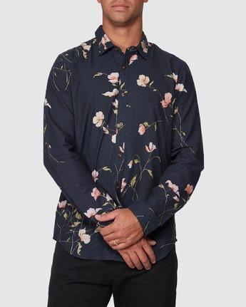 0 Lazarus Long Sleeve Shirt Black R107182 RVCA