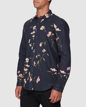 2 Lazarus Long Sleeve Shirt Black R107182 RVCA
