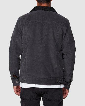 3 Daggers Cord Sherpa Jacket Grey R107433 RVCA