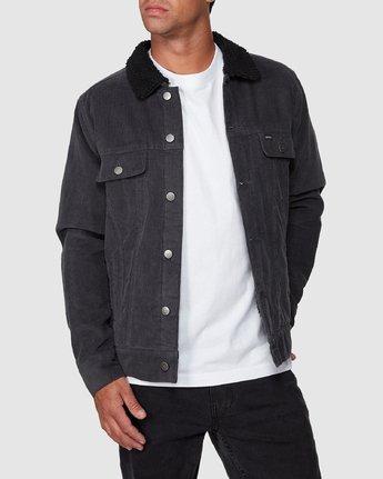 0 Daggers Cord Sherpa Jacket Grey R107433 RVCA