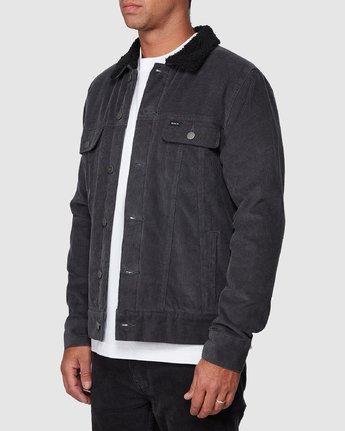 2 Daggers Cord Sherpa Jacket Grey R107433 RVCA