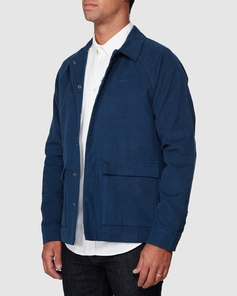 2 RVCA Cairo Jacket Blue R107437 RVCA
