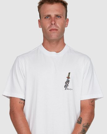 4 Frank Knives Short Sleeve Tee White R108042 RVCA