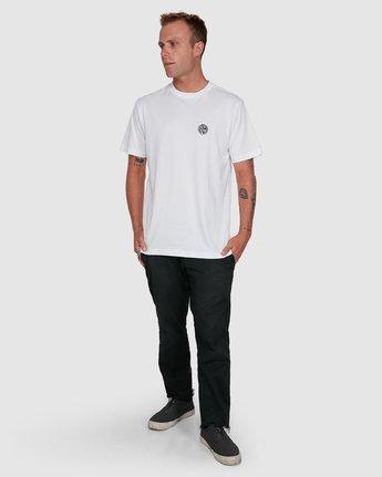 6 Rave Ball Short Sleeve Tee White R108046 RVCA
