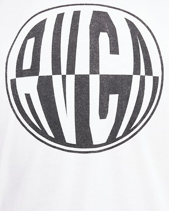 5 Rave Ball Short Sleeve Tee White R108046 RVCA