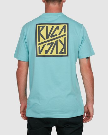 3 Sequel Short Sleeve Tee Blue R108047 RVCA