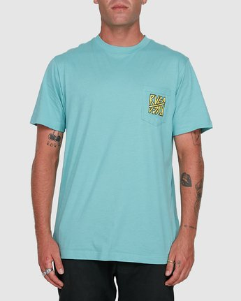 1 Sequel Short Sleeve Tee Blue R108047 RVCA