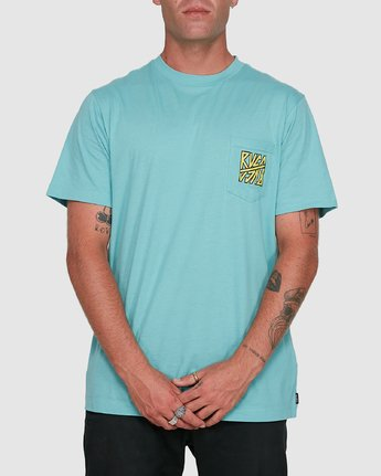 0 Sequel Short Sleeve Tee Blue R108047 RVCA