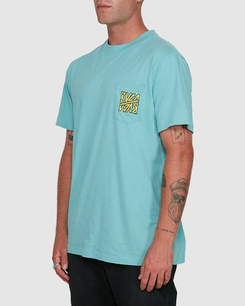 2 Sequel Short Sleeve Tee Blue R108047 RVCA