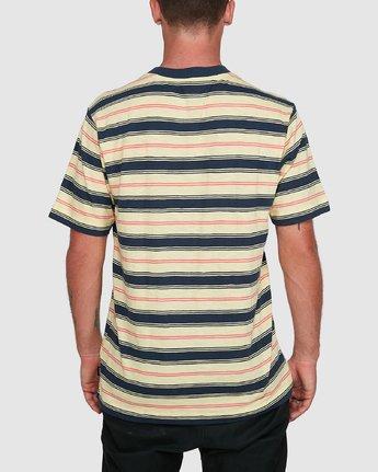 3 Dudes Stripe Short Sleeve Tee Yellow R108050 RVCA