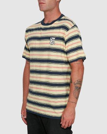 2 Dudes Stripe Short Sleeve Tee Yellow R108050 RVCA