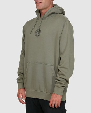 2 Rave Ball Pullover Hoodie Green R108153 RVCA