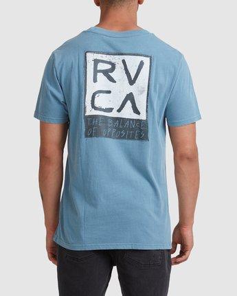 2 RVCA SCRAM SHORT SLEEVE TEE Blue R117047 RVCA