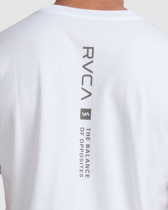 3 DOWN THE SPINE SHORT SLEEVE TEE White R117053 RVCA