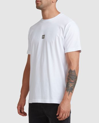 1 DOWN THE SPINE SHORT SLEEVE TEE White R117053 RVCA