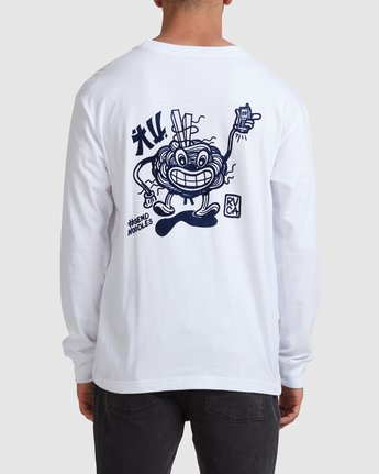 2 Noodles Long Sleeve Tee White R117092 RVCA
