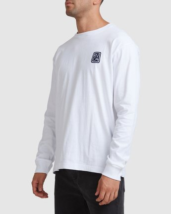 1 Noodles Long Sleeve Tee White R117092 RVCA