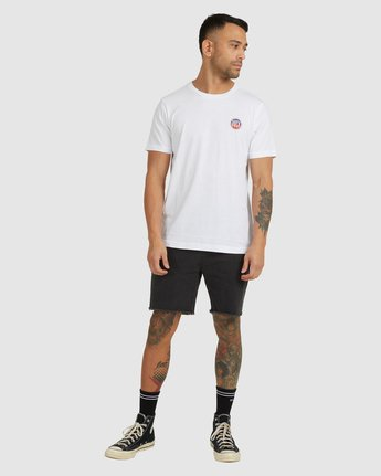 4 STAR BLAZER SHORT SLEEVE TEE White R118049 RVCA