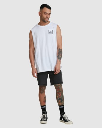 4 Va All The Way Muscle Top White R151012 RVCA