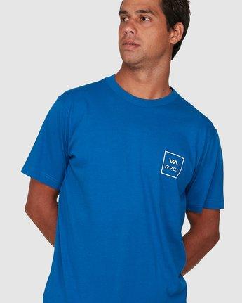 3 Va All The Ways Short Sleeve Tee Blue R172062 RVCA