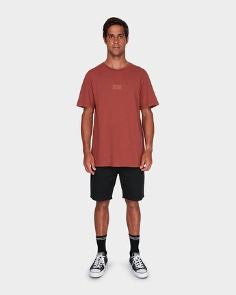 3 RVCA Focus T-Shirt Brown R181061 RVCA
