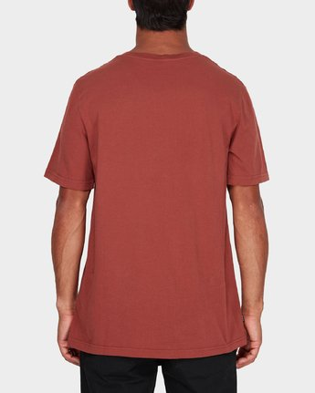2 RVCA Focus T-Shirt Brown R181061 RVCA