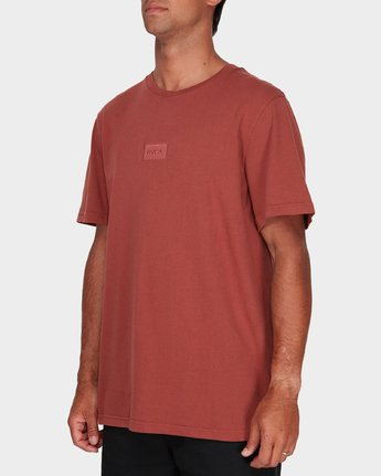 1 RVCA Focus T-Shirt Brown R181061 RVCA