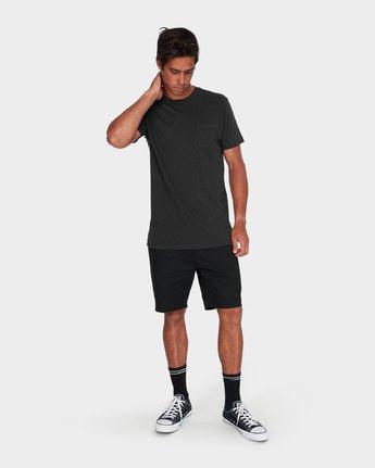 3 RVCA Pigment Fade T-Shirt Black R181066 RVCA