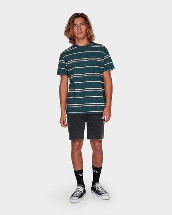 3 Moblow Stripe Short Sleeve T-Shirt  R181073 RVCA