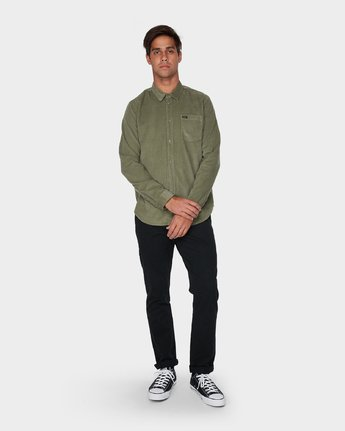 3 Truest Long Sleeve Shirt Brown R181186 RVCA