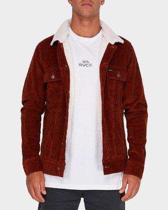 0 Daggers Cord Sherpa Jacket Brown R181433 RVCA
