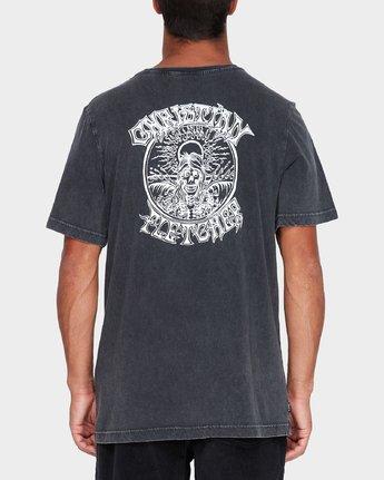 2 Fletcher Pinline Short Sleeve T-Shirt Black R182042 RVCA