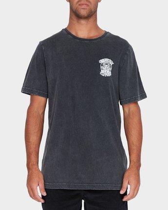 0 Fletcher Pinline Short Sleeve T-Shirt Black R182042 RVCA