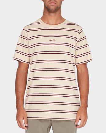 1 Focus Stripe Short Sleeve T-Shirt  R182051 RVCA