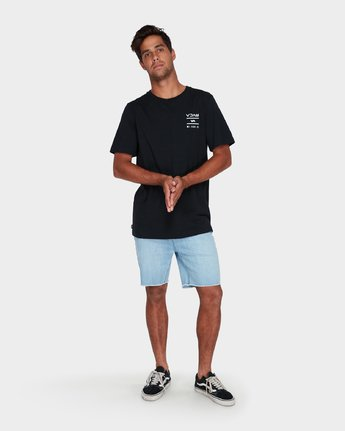 3 RVCA Between The Lines Short Sleeve T-Shirt  R182053 RVCA