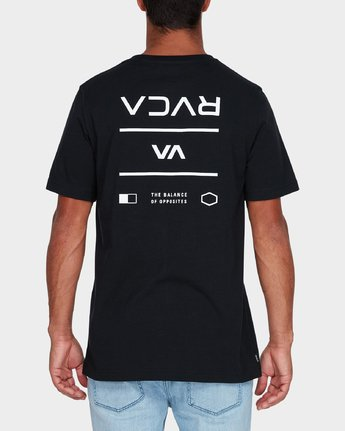 2 RVCA Between The Lines Short Sleeve T-Shirt  R182053 RVCA