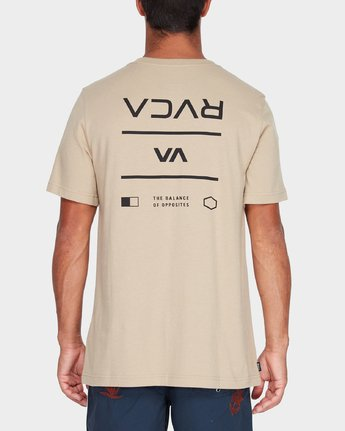 2 RVCA Between The Lines Short Sleeve T-Shirt Yellow R182053 RVCA