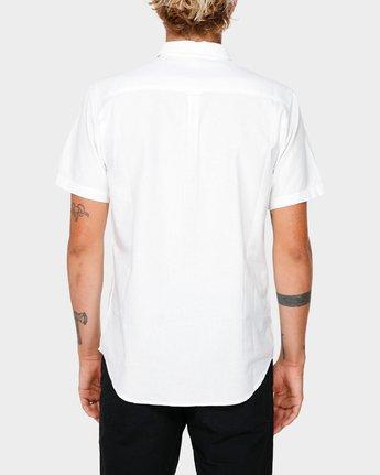 2 Crushed Short Sleeve Shirt White R182191 RVCA