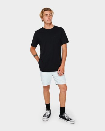 9 RVCA Rockers Cuffed Denim Short White R182317 RVCA