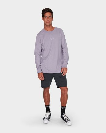 3 Savage Surf Club Long Sleeve Embroidery T-Shirt  R183107 RVCA