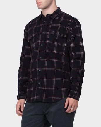 1 Tacked Long Sleeve Shirt  R183181 RVCA