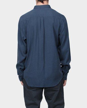 2 RVCA High Grade Tencil Long Sleeve Shirt  R183184 RVCA
