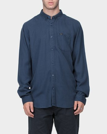 0 RVCA High Grade Tencil Long Sleeve Shirt  R183184 RVCA