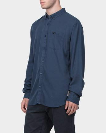 1 RVCA High Grade Tencil Long Sleeve Shirt  R183184 RVCA