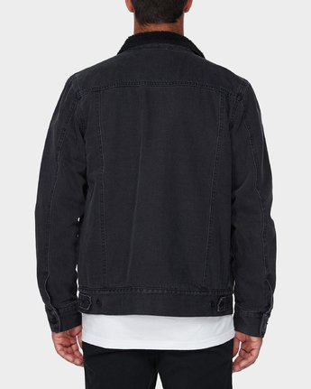 2 Daggers Denim Sherpa Jacket Black R183445 RVCA